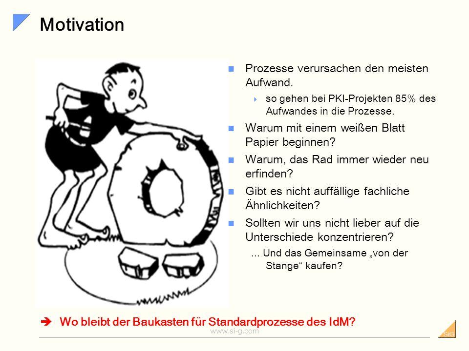 Motivation Prozesse verursachen den meisten Aufwand.