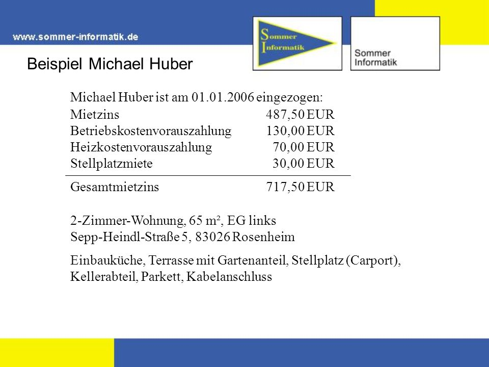 Beispiel Michael Huber