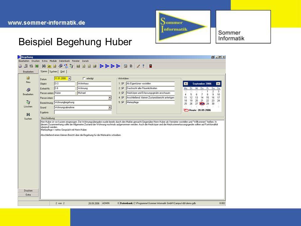Beispiel Begehung Huber