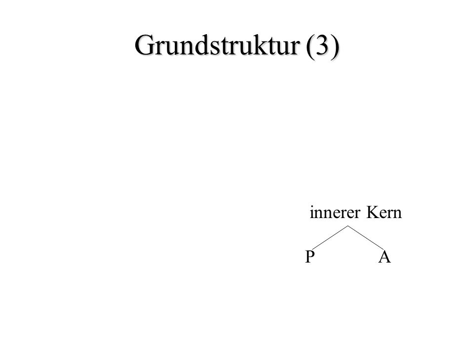 Grundstruktur (3) innerer Kern P A