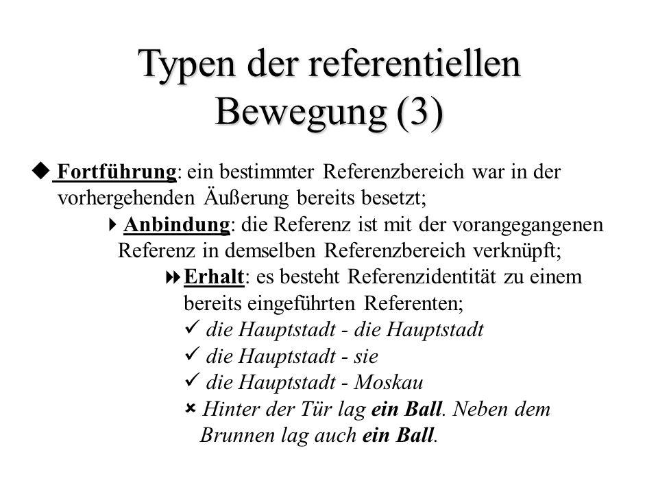 Typen der referentiellen Bewegung (3)