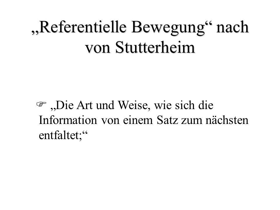 """""""Referentielle Bewegung nach von Stutterheim"""
