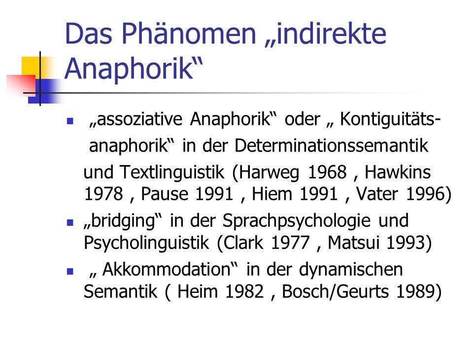 "Das Phänomen ""indirekte Anaphorik"