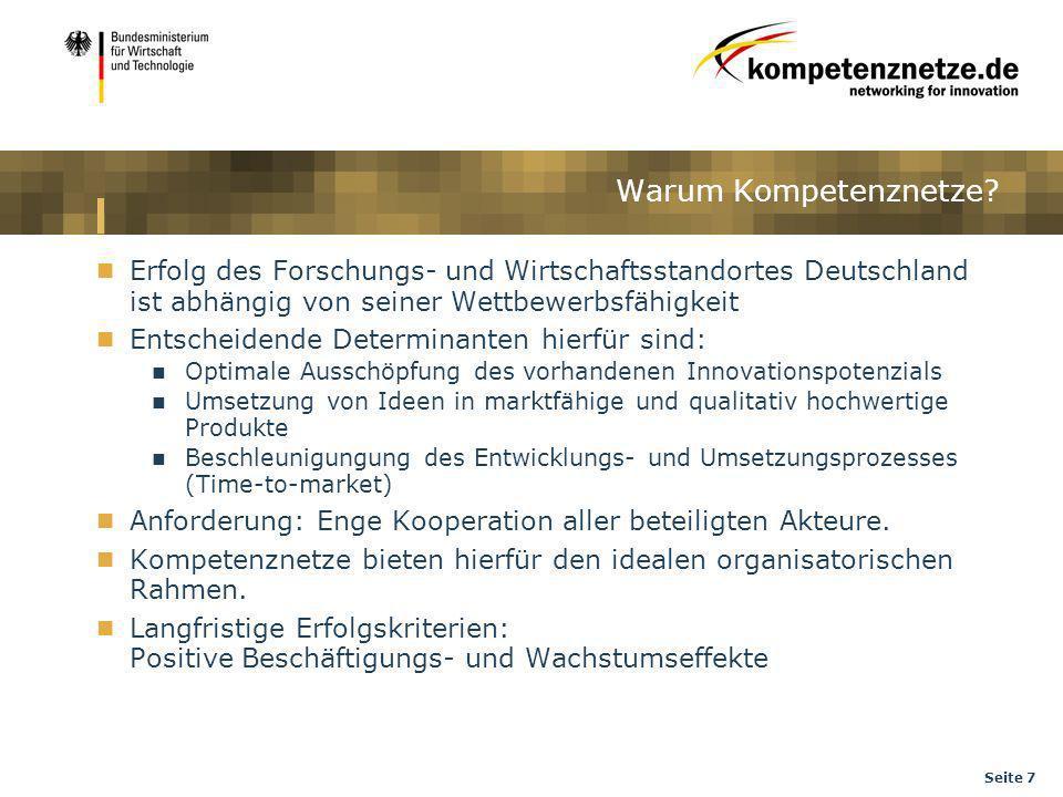 Warum Kompetenznetze Erfolg des Forschungs- und Wirtschaftsstandortes Deutschland ist abhängig von seiner Wettbewerbsfähigkeit.