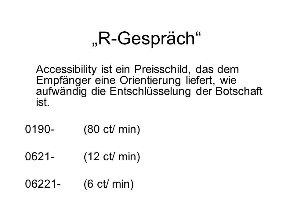 """""""R-Gespräch Accessibility ist ein Preisschild, das dem Empfänger eine Orientierung liefert, wie aufwändig die Entschlüsselung der Botschaft ist."""