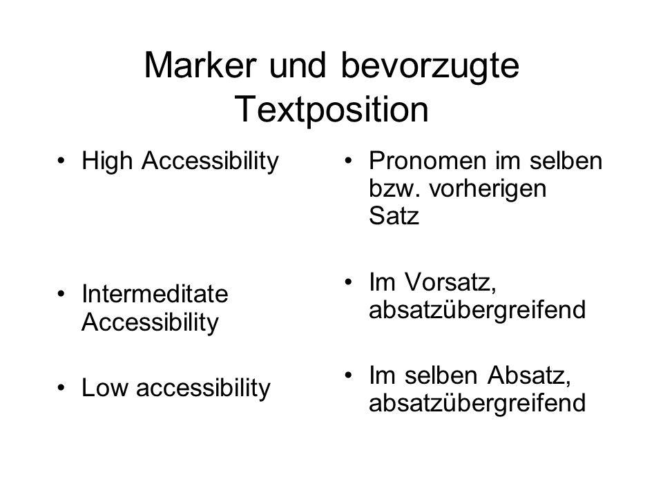 Marker und bevorzugte Textposition