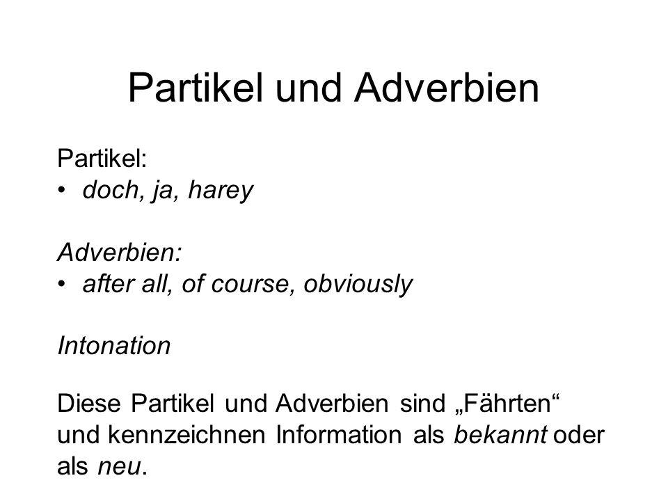 Partikel und Adverbien