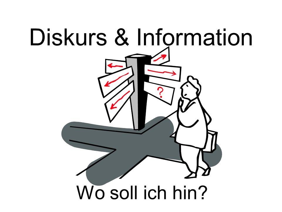 Diskurs & Information Wo soll ich hin Passendes Bild finden.