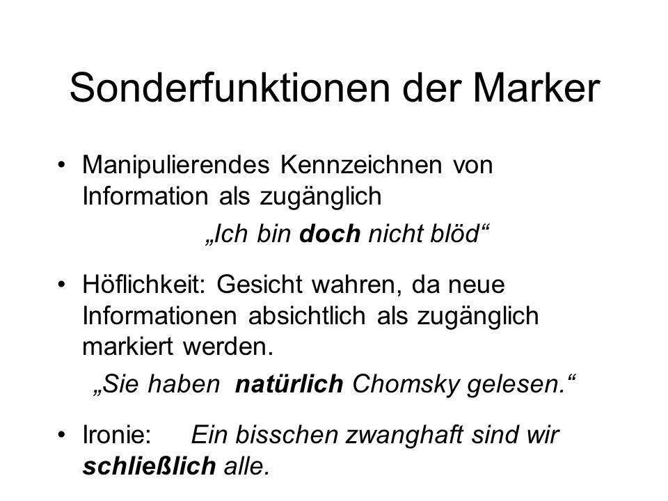Sonderfunktionen der Marker