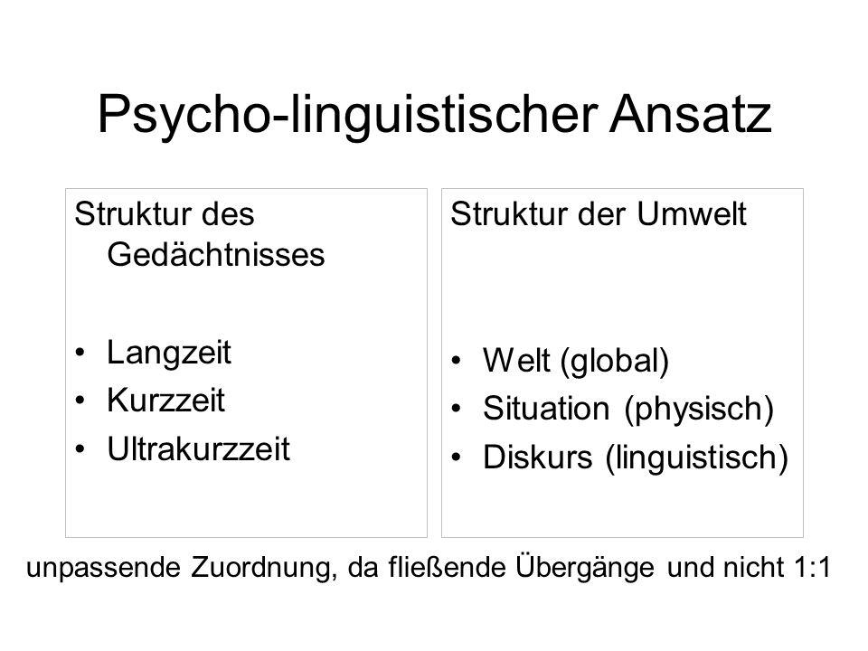 Psycho-linguistischer Ansatz