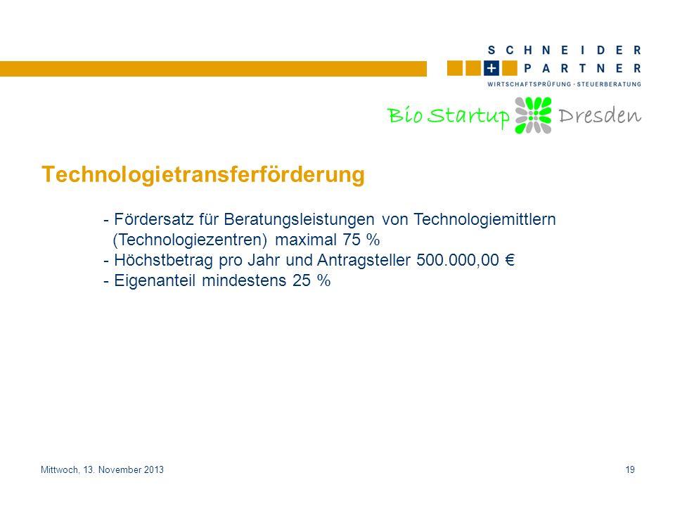 Technologietransferförderung