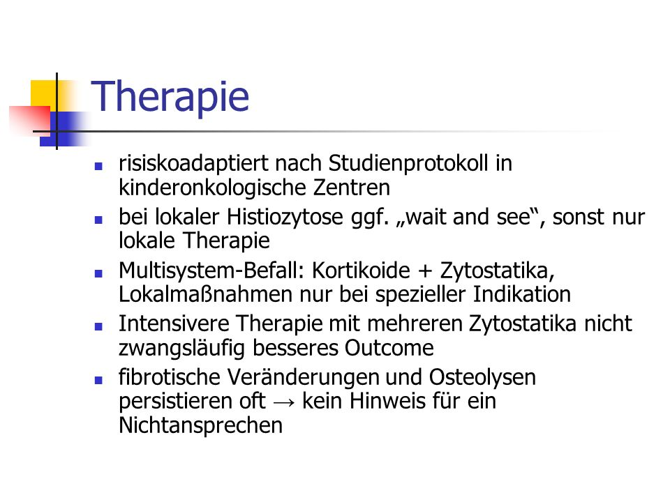 Therapie risiskoadaptiert nach Studienprotokoll in kinderonkologische Zentren.