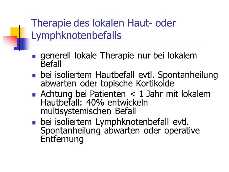 Therapie des lokalen Haut- oder Lymphknotenbefalls