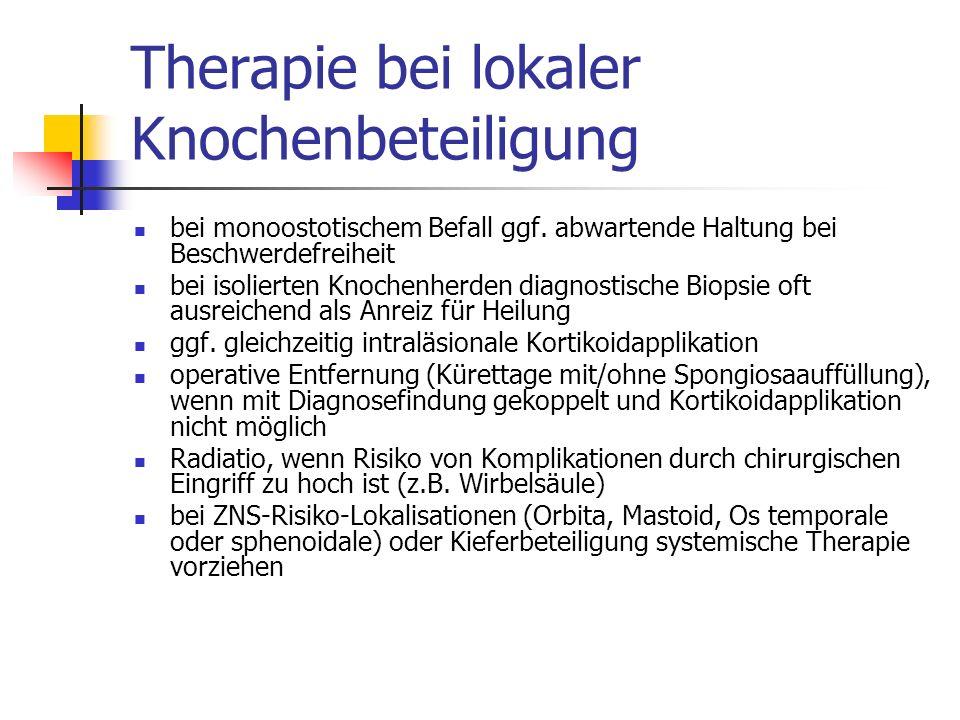 Therapie bei lokaler Knochenbeteiligung