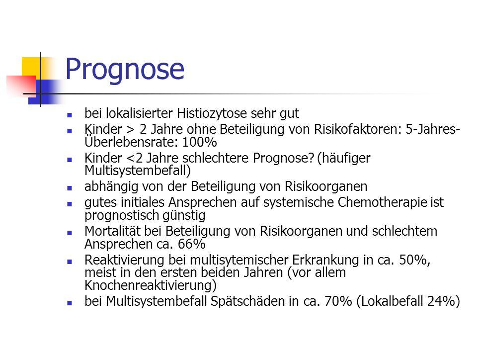 Prognose bei lokalisierter Histiozytose sehr gut