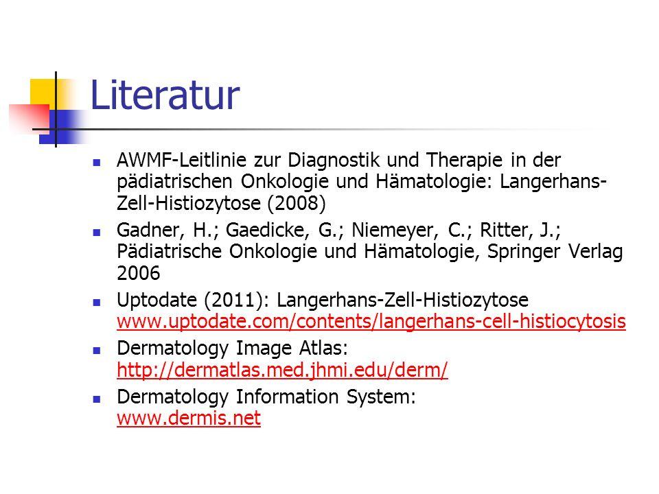 Literatur AWMF-Leitlinie zur Diagnostik und Therapie in der pädiatrischen Onkologie und Hämatologie: Langerhans-Zell-Histiozytose (2008)