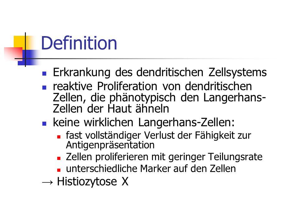 Definition Erkrankung des dendritischen Zellsystems