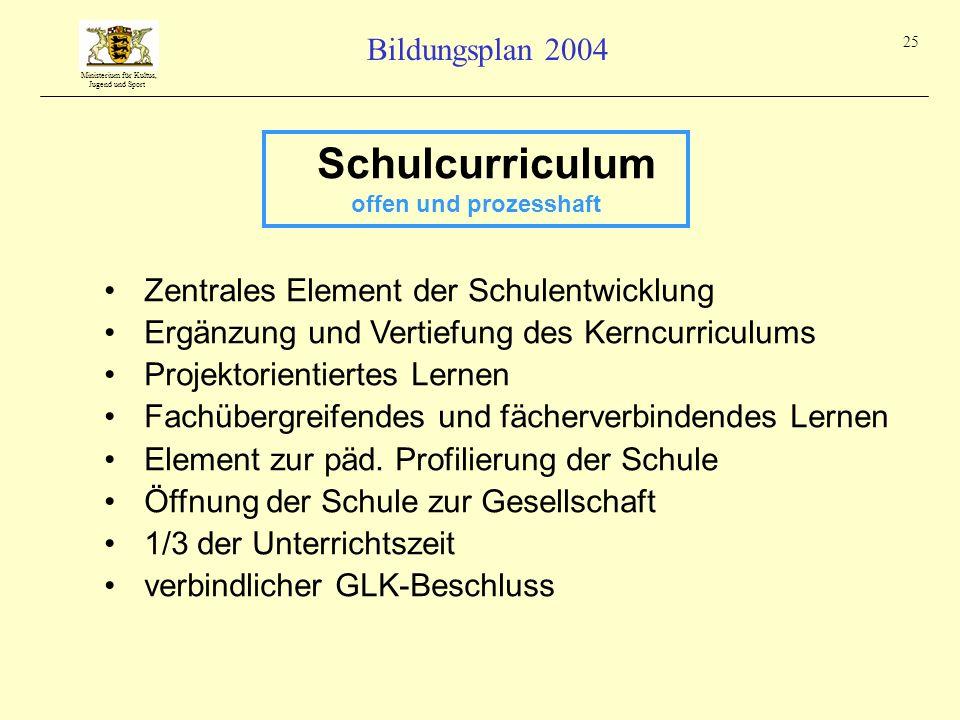 Schulcurriculum Zentrales Element der Schulentwicklung