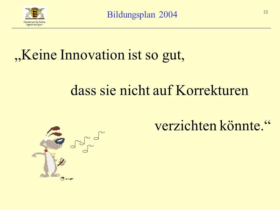 """""""Keine Innovation ist so gut,"""