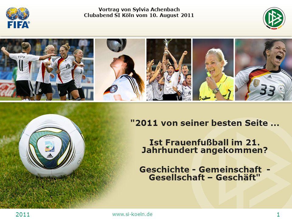 Vortrag von Sylvia Achenbach Clubabend SI Köln vom 10. August 2011