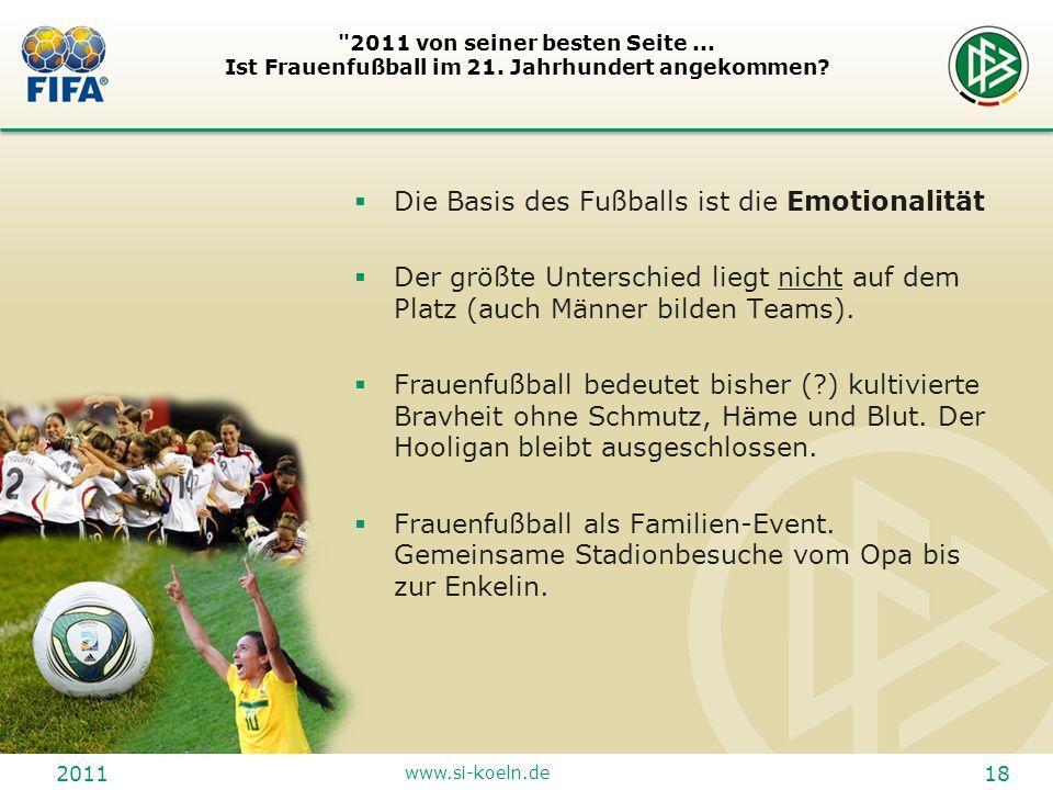 Die Basis des Fußballs ist die Emotionalität