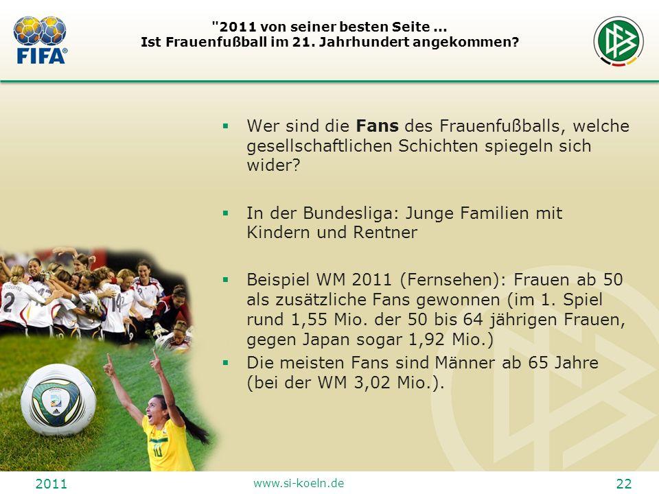 In der Bundesliga: Junge Familien mit Kindern und Rentner