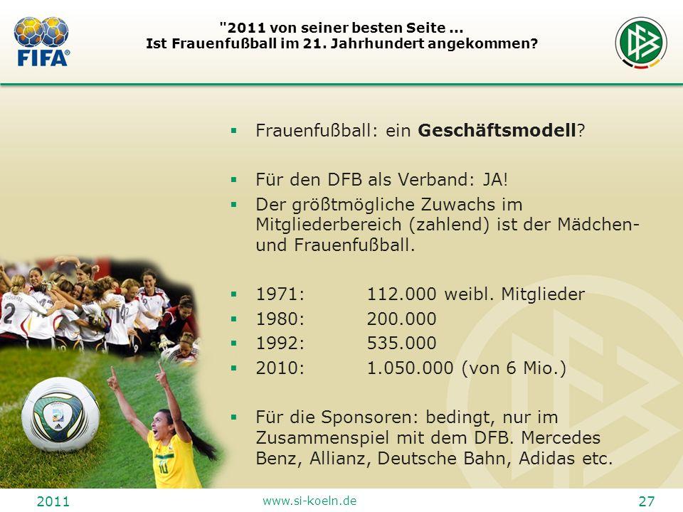 Frauenfußball: ein Geschäftsmodell Für den DFB als Verband: JA!