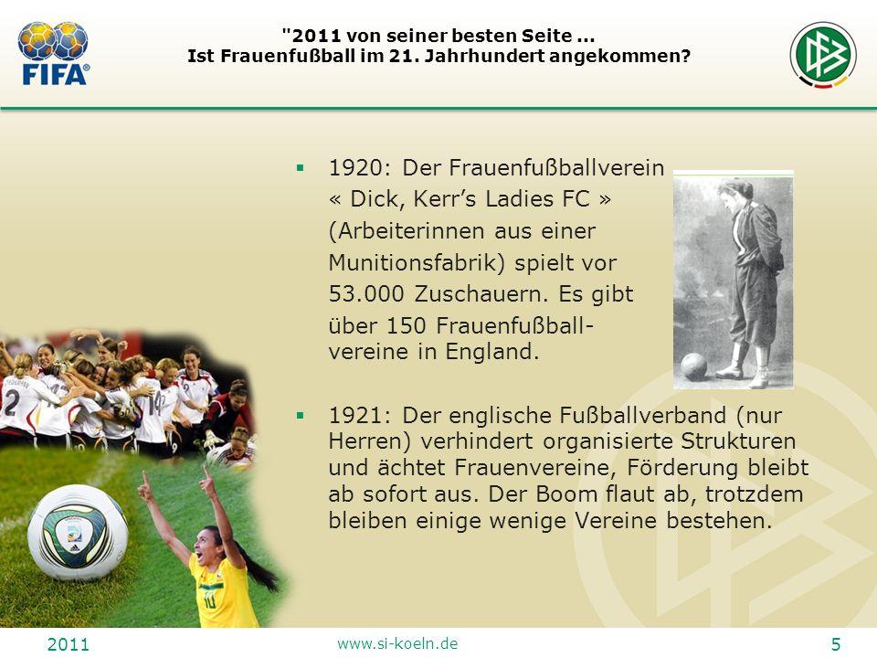 1920: Der Frauenfußballverein « Dick, Kerr's Ladies FC »