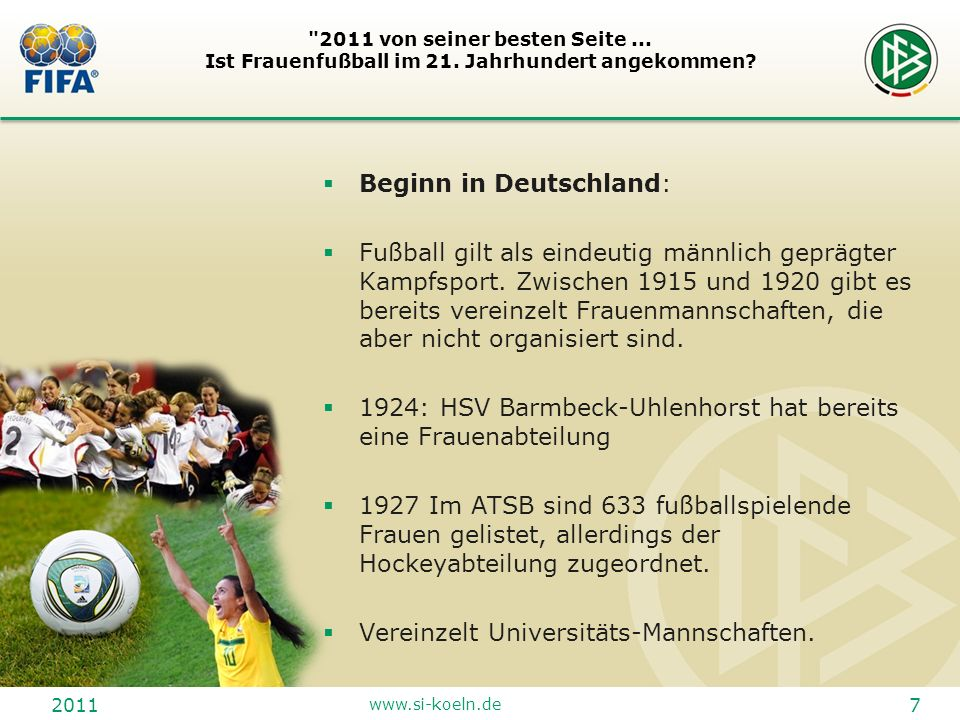 Beginn in Deutschland: