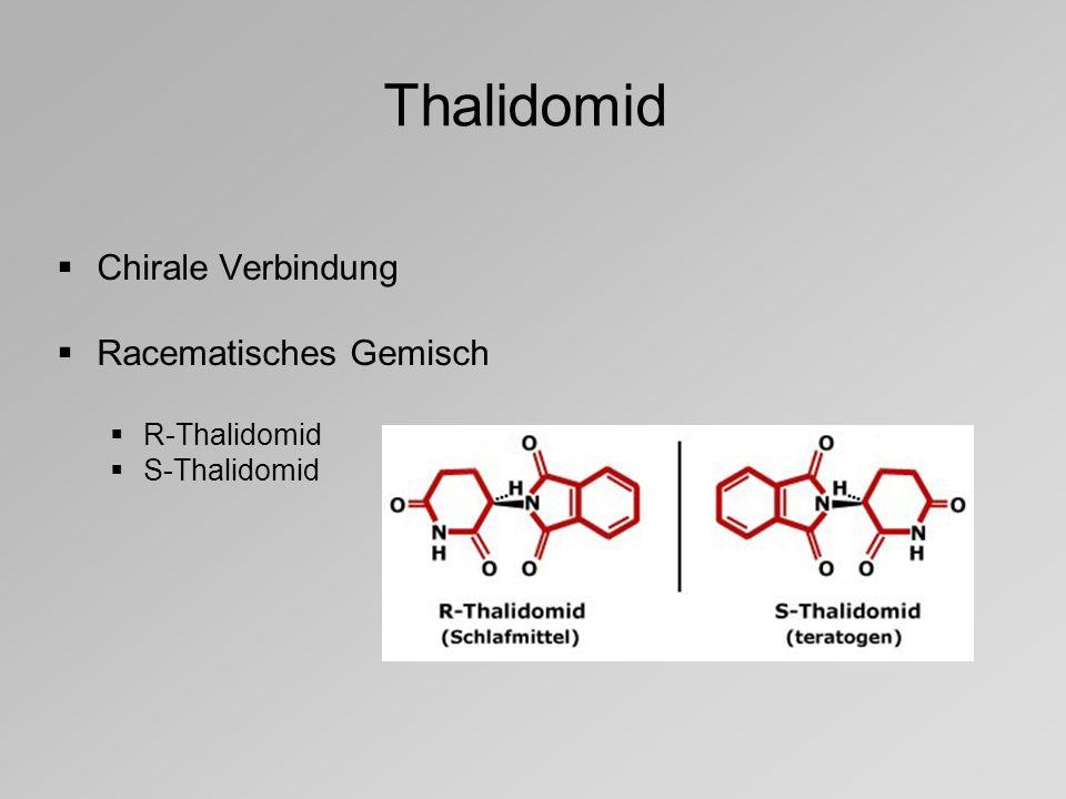 Thalidomid Chirale Verbindung Racematisches Gemisch R-Thalidomid
