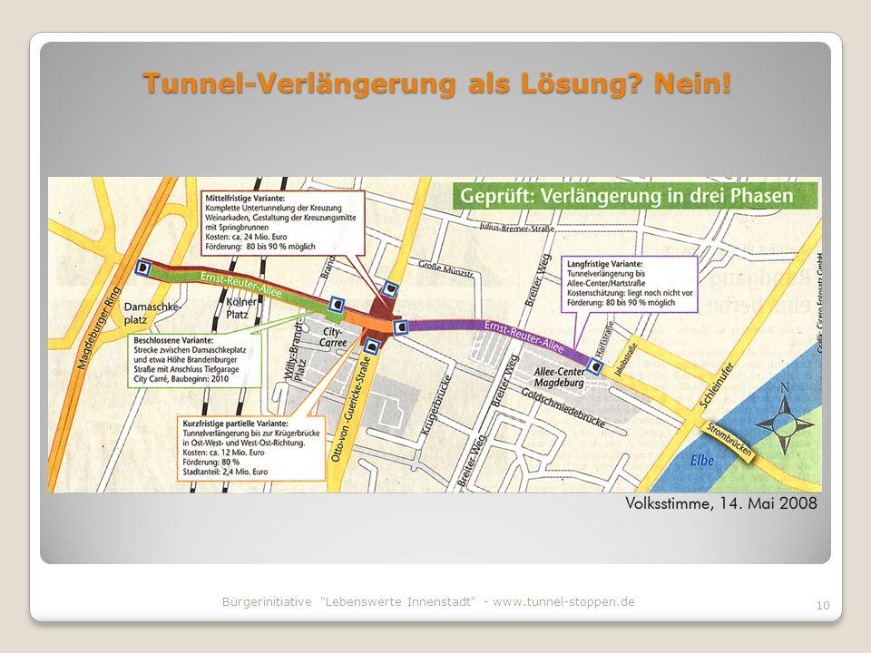Tunnel-Verlängerung als Lösung Nein!