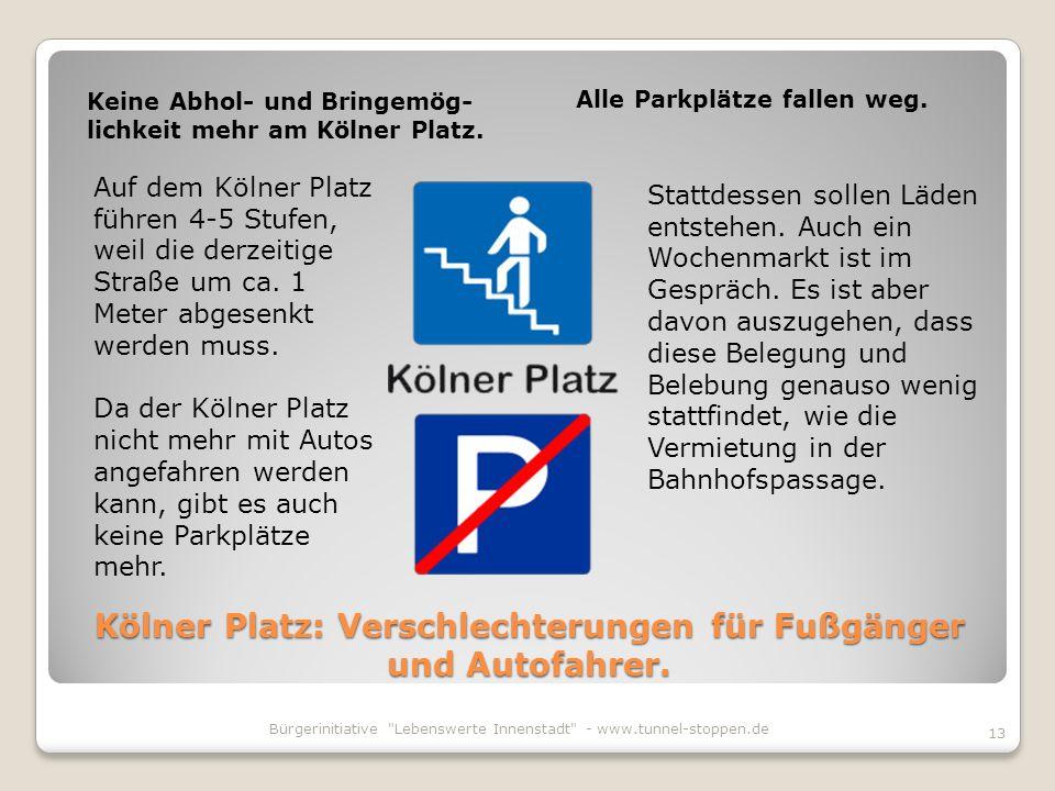 Kölner Platz: Verschlechterungen für Fußgänger und Autofahrer.