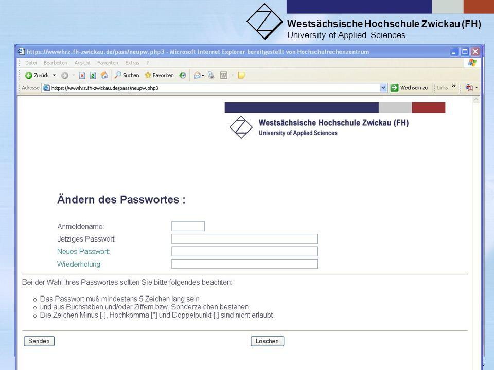 Passwort ändern: