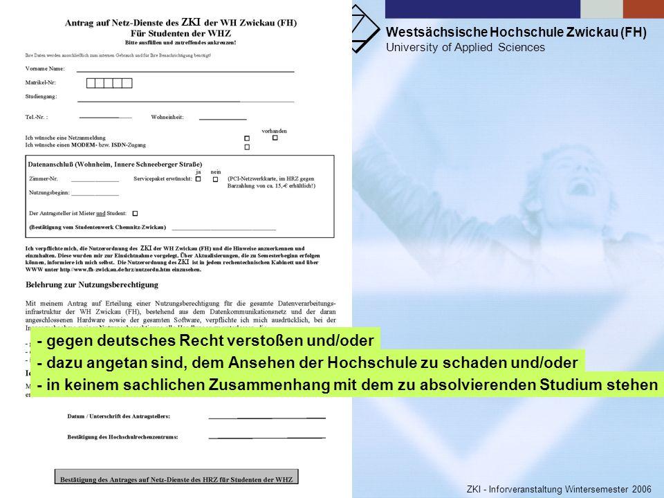 - gegen deutsches Recht verstoßen und/oder