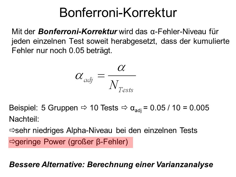 Bonferroni-Korrektur