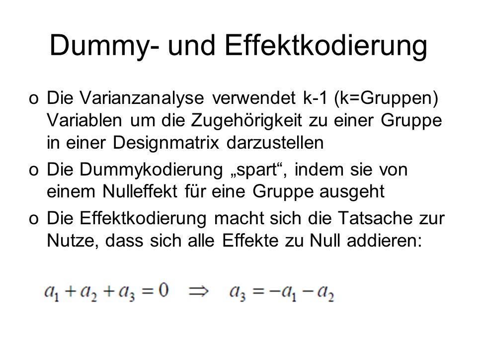 Dummy- und Effektkodierung