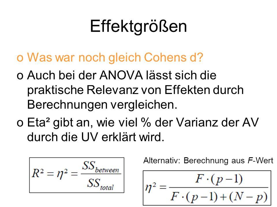 Alternativ: Berechnung aus F-Wert