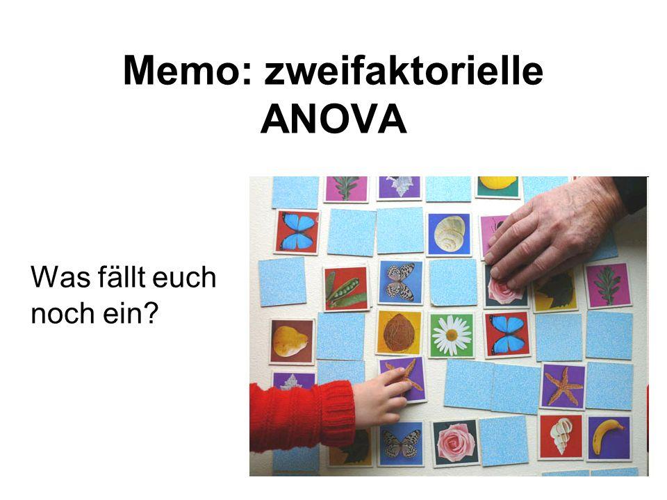 Memo: zweifaktorielle ANOVA