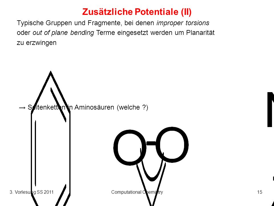Zusätzliche Potentiale (II)