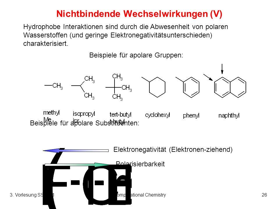 Nichtbindende Wechselwirkungen (V)