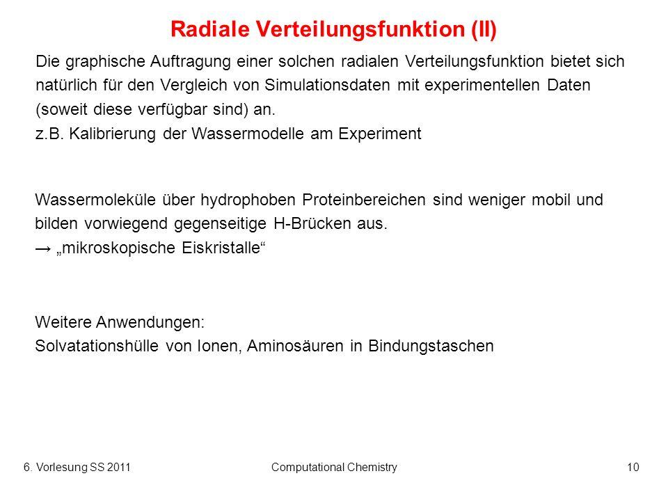 Radiale Verteilungsfunktion (II)