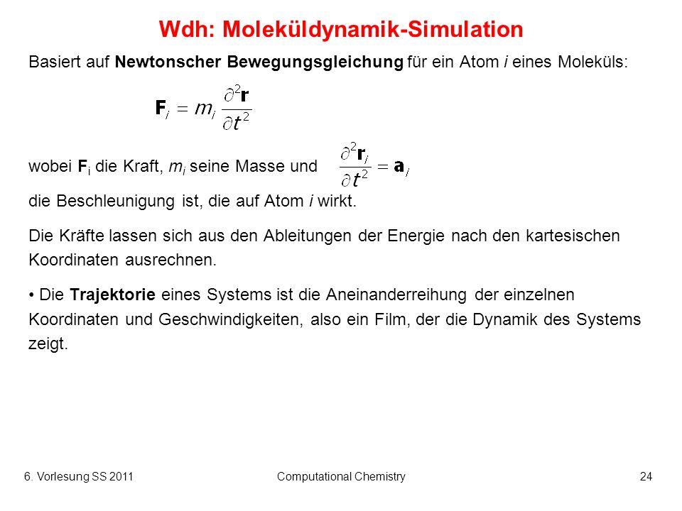 Wdh: Moleküldynamik-Simulation