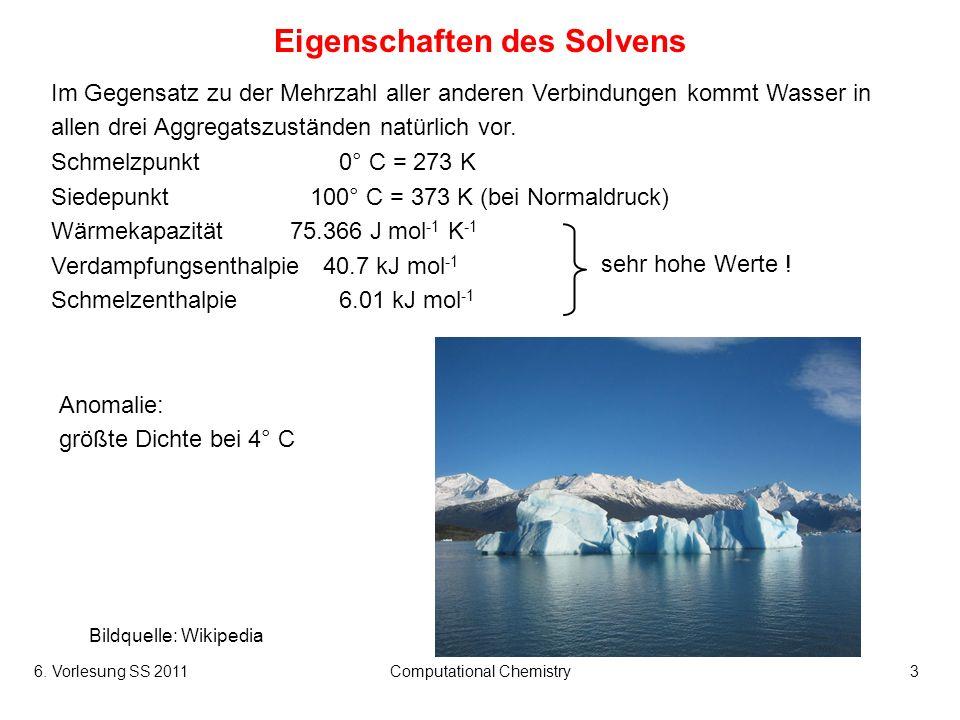 Eigenschaften des Solvens