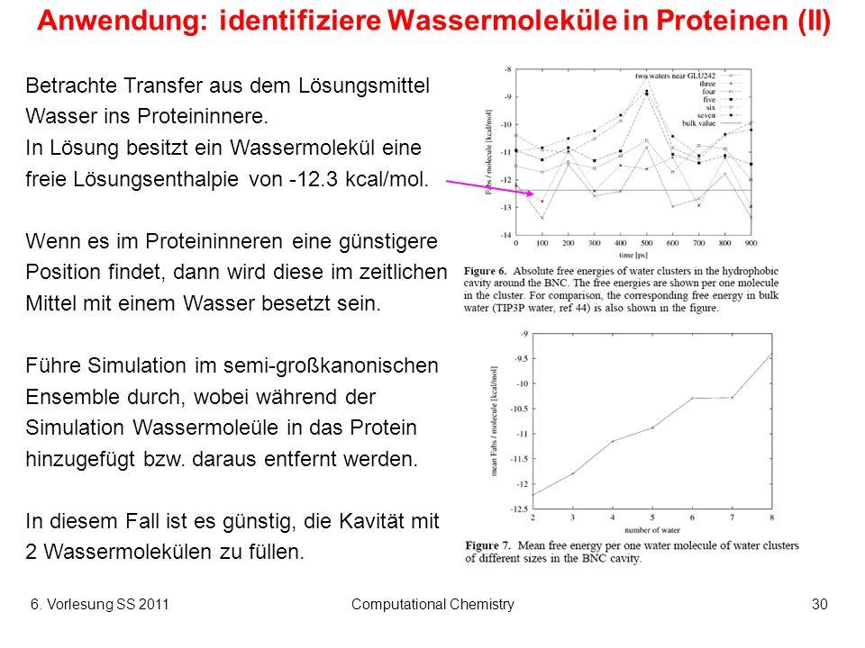Anwendung: identifiziere Wassermoleküle in Proteinen (II)