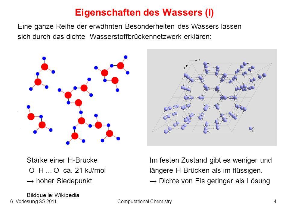 Eigenschaften des Wassers (I)
