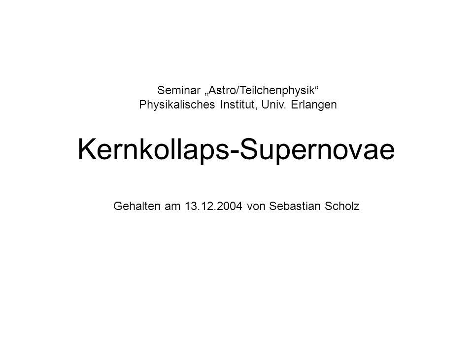 Kernkollaps-Supernovae