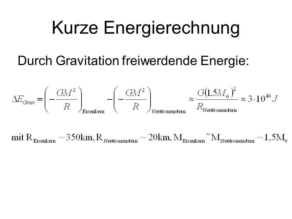Kurze Energierechnung