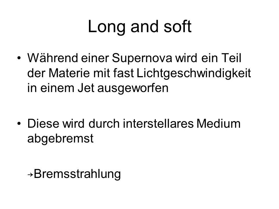 Long and soft Während einer Supernova wird ein Teil der Materie mit fast Lichtgeschwindigkeit in einem Jet ausgeworfen.