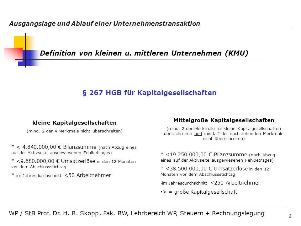 § 267 HGB für Kapitalgesellschaften