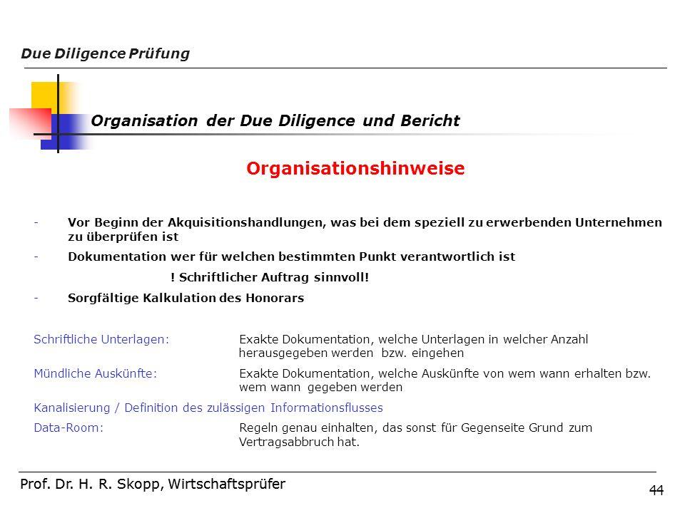Organisationshinweise